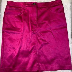 Dolce and Gabbana pink satin pencil skirt
